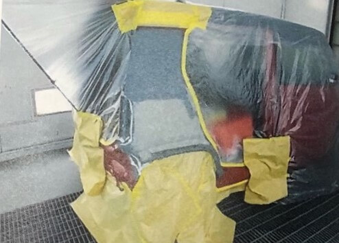 スズキハスラーの事故後写真